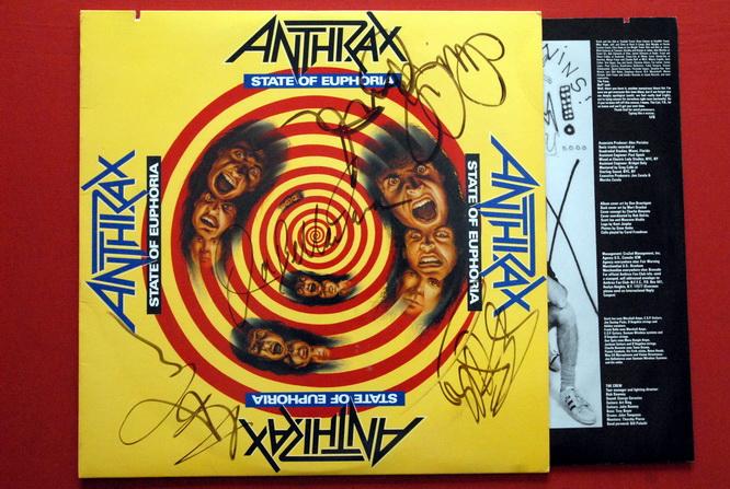 Anthrax State Of Euphoria Original Fully Signed Lp 1988 Ebay